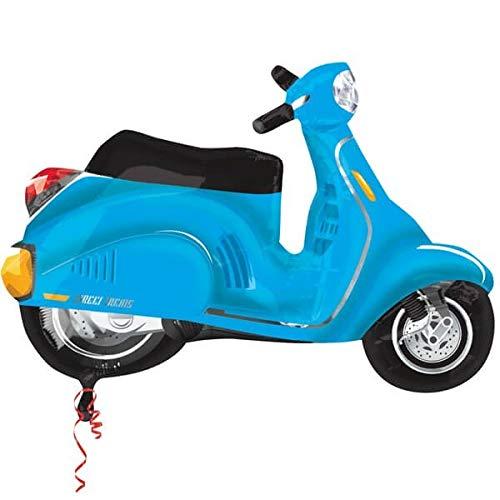 Globo Moto Scooter Azul - Forma 60cm Foil Poliamida - A2751702