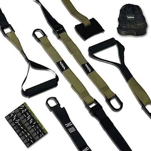 LITHIX Schlingentrainer - Robustes Workout Band mit Türanker und Decken-Halterung - Effektives Home Gym Equipment - Fitnessband mit Griff für Eigengewicht Training