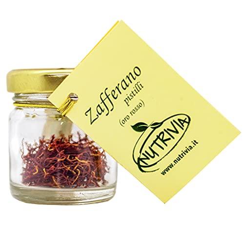 Zafferano Oro Rosso In Pistilli 1 Gr - Qualità premium confezionato in vetro 100 % Naturale Biologico