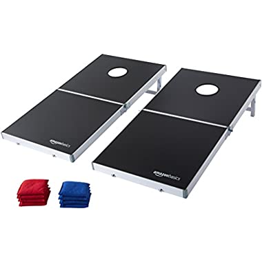 AmazonBasics Foldable Aluminum Framed Cornhole Set