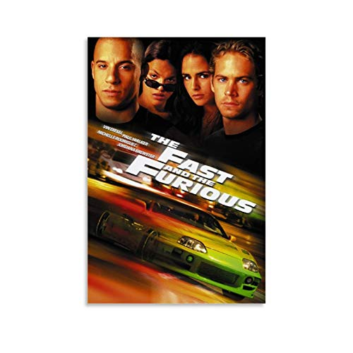 The Movie The Fast and Furious Series Paul Walker The Cover Poster Decorative Painting Canvas Wall Art Living Room Posters Bedroom Painting 12x18inch(30x45cm)