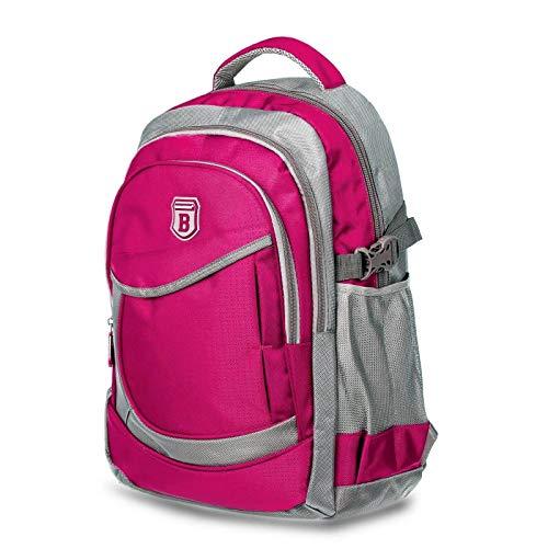 Elitar Rucksack Damen Kinder Herren Ergonomisch Backpack 25 Liter groß Organizer Handgepäck Daypack Pink/Rosa
