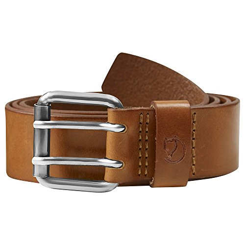 FJÄLLRÄVEN Pantalon Singi Two Broches Belt Ceinture 75 cm Leather Cognac