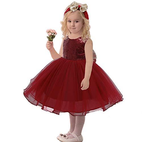 AILIEE Mädchen Kleidung Kinder Süß Kleid Bowknot Prinzessin Spitze Stirnband Baby...