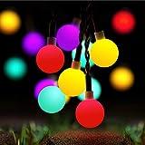 Guirlande Lumineuse Exterieur Solaire, 60 LED 10M Étanche IP65 avec 8 Modes Eclairage d'Ambiance Jolies Lights Décoration Romantique DIY pour Jardin Terrasse Clôture Cour Maison Fête Noël (Multi)