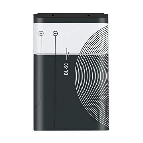 Ba30DEllylelly Carga de la batería del teléfono BL-5C de 1020mAh de Capacidad para Nokia BL-5C 3.7V 3.8Wh Batería de Repuesto para teléfono móvil Batería para teléfono Inteligente