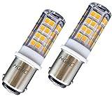 5W Ba15d LED Lampadina 220V SBC Baionetta Doppio Contatto Ceramica Lampada Bianca Calda 3000K Equivalente a Lampadina Alogena da 35W, per Cucire Macchina Lampade Illuminazione (2 pezzi)