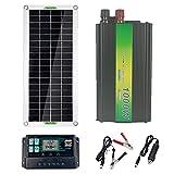 #N/A/a Sistema de Panel Solar 220V 30W Panel Solar Controlador de Carga de batería Kit de inversor Solar Conjunto Completo de generación de energía - 100A