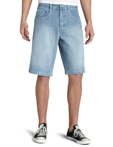 Southpole Men's Regular Fit Shorts (YM/BT), Light Sand Blue, 34