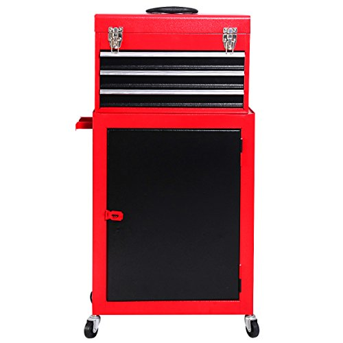 Dawndior Tool Storage Cabinet Rolling Garage Toolbox Organizer with Chest and Sliding Drawers