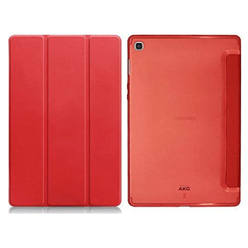 XYAL0002001 Xingyue Aile Covers For Samsung Tap S5e 10.5 2019, Tablet Folio case Silicone Soft Clear Back PU Leather Auto Smart Cover For Samsung Galaxy T720 SM-T725 (Color : Red)