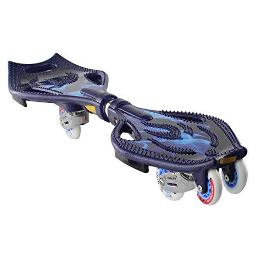 MJY Skateboard Waveboard Platte Kickboard Kinder Skateboard Platte Kinder Skateboard Kinder 6 Runde Light Wheel Skateboard Geschenk Geburtstagsgeschenk Weihnachten Adult Skateboard