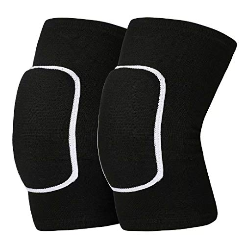 Mclako Knee Pads Knee Guards, Soft Breathable Knee Pads for Men Women Kids Knees Protective, Knee Braces for Volleyball Football Dance Yoga Tennis Running cycling Black(L)