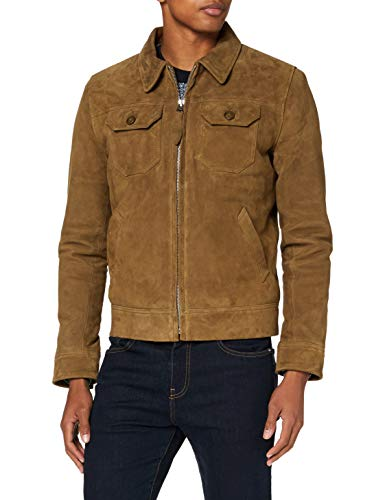 Schott nyc LCSTANW19 Leather Jacket, Rust, Large Mens