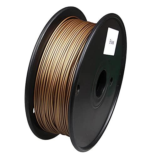 3D Printer Filament, Pla Metal-Based Filament, 1.75mm, 0.5kg Spool, 40% Metal Content-Brass
