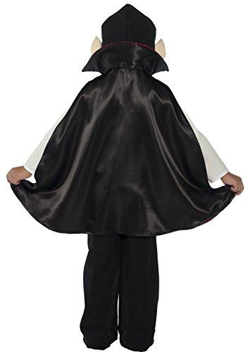 SMIFFYS Smiffy's 36169T1 - Vampire Costume Nero con Pantaloni Top Shoecovers del Capo e Copricapo, T