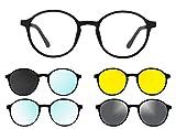 "Ultem THEMA U-288 Colore M02 NERO OPACO Montatura per occhiali da vista e sole + 4 CLIP-ON Linea Original ""99 John St NYC"" Genere UNISEX"