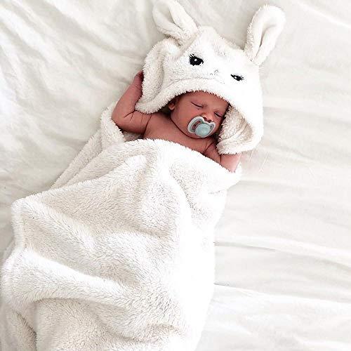 DGJEL Peignoir de Bain à Capuche pour Nouveau-né bébé garçon Fille Cartoon Animal Style Animal de Dessin animé Couverture de Nuit enveloppante