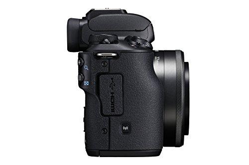 Canon EOS M50 spiegellose Systemkamera (24,1 MP, dreh- und schwenkbares 7, 5cm (3 Zoll) Touch-LCD, 4K Video, OLED EVF, WLAN, Bluetooth) + EF-M 15-45mm IS STM + EF-M 22mm F2 STM, schwarz