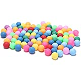 Qingxin Lot de 50 balles de tennis de table 40 mm 2,4 g Couleurs aléatoires Pour jeux de plein air