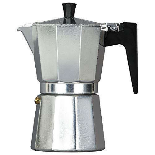 TRINKBASIS Espressokocher (Mokkakocher) für 6 Tassen (300 ml) für die Zubereitung von Espresso, Kaffee und Mokka