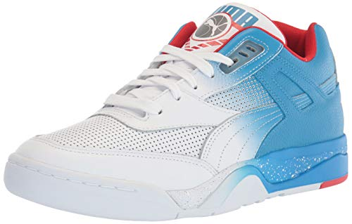PUMA Palace Guard, Zapatillas Deportivas. Unisex Adulto, Guirnalda de banderines, Color Blanco y Rojo, 39 EU
