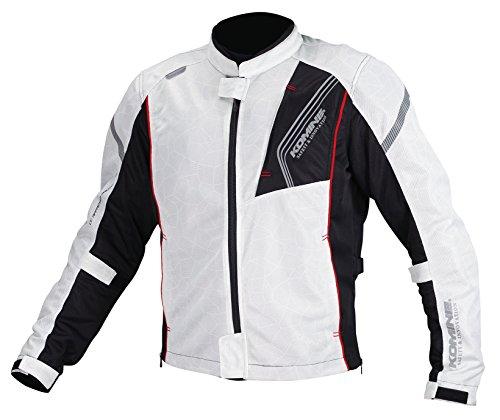 コミネ(KOMINE) バイク用 プロテクトフルメッシュジャケット シルバー/ブラック XL JK-128 1154 春夏向け CE規格 メッシュ素材 プロテクター