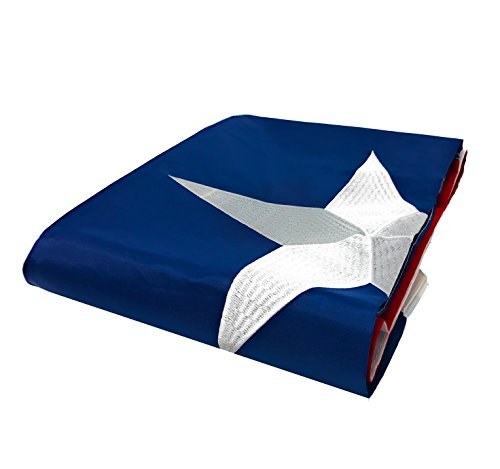 Texas Flag 3x5 ft - Embroidered Star - Tough, Long Lasting Nylon Built for Outdoor Use, Sun Ray Resistant, Reinforced Lock Stitching on Fly End