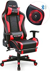 ♫ MUSIC GAMING CHAIR: Original designed with two Bluetooth speakers. The surround sound system brings out the best in your entertainment, delivering remarkable and richly detailed stereo sound out loud in solid bass and clear, full audio. Connect it ...