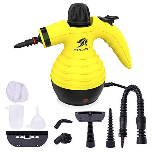 MLMLANT Multiuso Purificador Limpiador de Vapor para la eliminación de Manchas, alfombras, Cortinas, Control de Errores de Cama, Asientos de Coche (Amarillo)