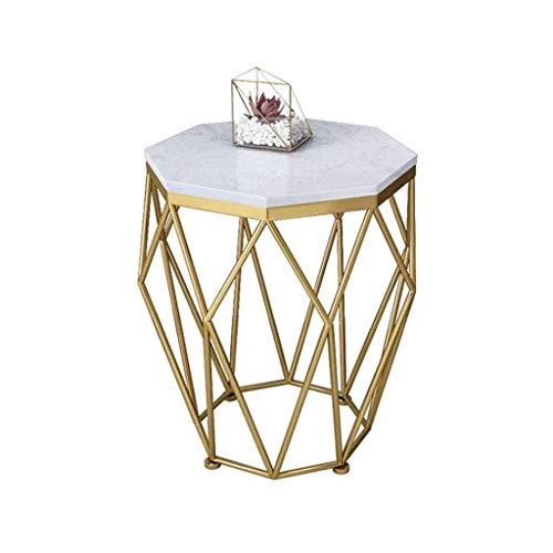Creative moderne minimalistische salontafel Modern Octagon Side/End Table, Faux Marmer, for nachtkastje en slaapkamer Licht luxe-afwijzing van middelmatigheid (Color : #1)
