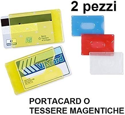 Brieftasche aus Kunststoff Hartschale f�r Kreditkarten und Ausweis magnetischer 2PZ : B�robedarf & Schreibwaren