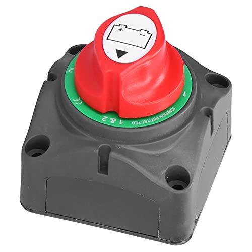 FOLOSAFENAR Interruptor de desconexión de batería, Interruptor de desconexión Principal de batería Duradero de 12 V 3 Engranajes fácil de Instalar para Tren de Coche de yate