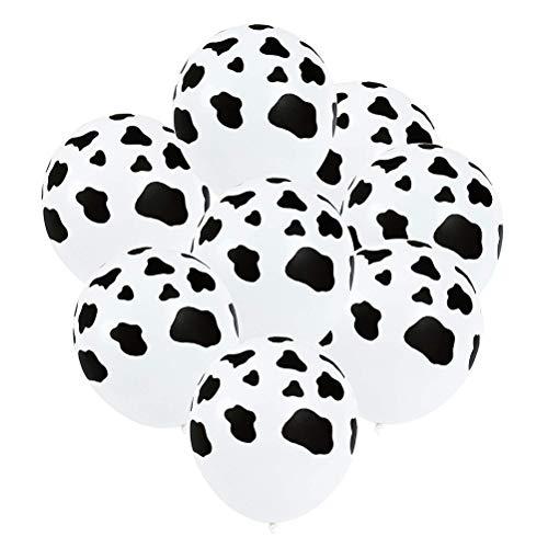 Toyvain 20 Unidades de Vaca Lechera de Impresión Globos Hermosa Globos de Impresión en Blanco y Negro para la Fiesta de Cumpleaños Fiesta de Cumpleaños Decoración