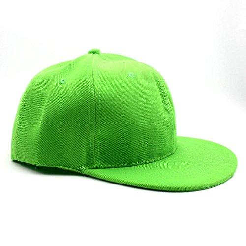 HuntGold 1 X Hot Plat Hiphop Casquette de golf Surf Skate neige réglable casquette visière Bonnet Enfant (Vert)