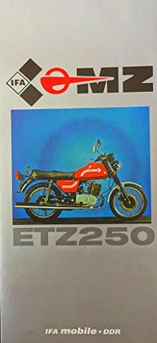 Schönes Prospekt MZ ETZ 250 17 PS - DDR STIL 1981 IFA