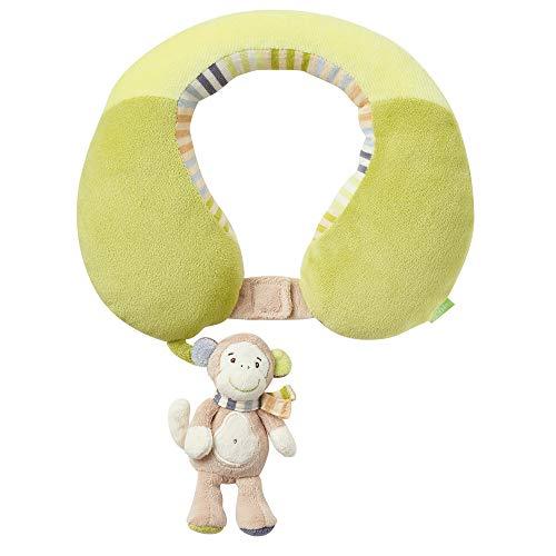 Monkey Donkey Fehn - Cojín cervical con mono de peluche