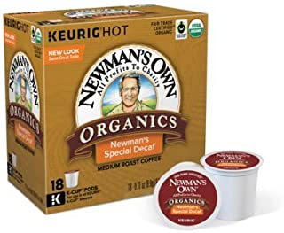 Newmans Own Organics Special Blend Decaf Keurig Single-Serve K-Cup Pods, Medium Roast Coffee 18 Count (Pack of 2)