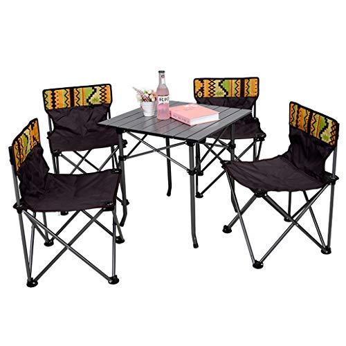 MSF Klapptisch Outdoor Klapptisch und Stuhl Set Portable Picknick Schreibtisch und Stuhl Fünfteiliges Set Wild Self-Driving Car Camping Angeln Sitz