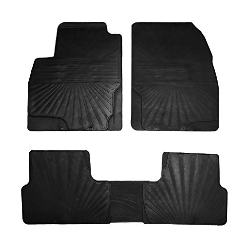 RE&AR Tuning Alfombrillas de goma para Opel Astra J 2009-2015, color negro