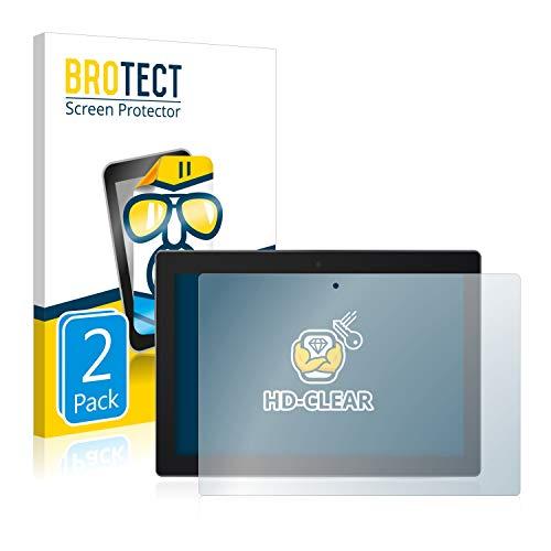 BROTECT Schutzfolie kompatibel mit Lenovo Tab 3 10 Business TB3-X70L (2 Stück) klare Bildschirmschutz-Folie