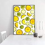 XIANGPEIFBH Refresh Sweet Fruit Slice Leinwand Gemälde