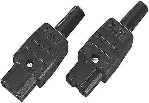 Bachmann Kaltgerätedose Schutzkontakt, 915170 (3 Stück Kaltgeraetedose)