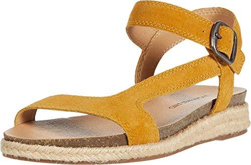 Lucky Brand Women's GABRIEN Flat Sandal, Golden Yellow, 7