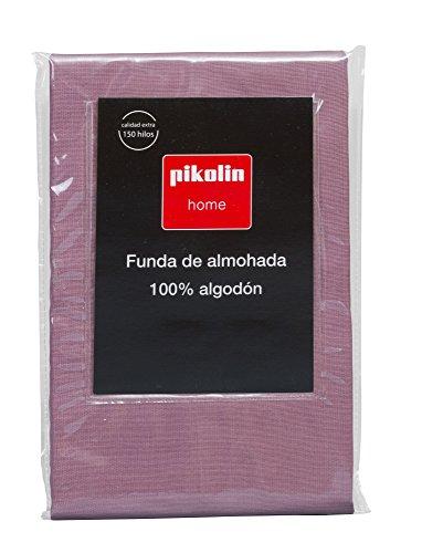 Pikolin Home - Almohadón, funda de almohada, 100% algodón, almohadas de 135 y 150cm, color morado (Todas las medidas)