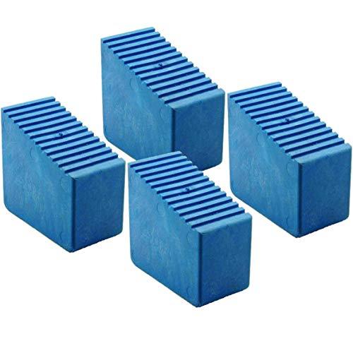 Patas de goma para escalera de madera, 4 unidades, 3-8 peldaños, tamaño interior 56 x 23 mm, azul HB40