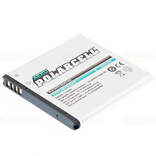 cellePhone PolarCell Akku Li-Ion kompatibel mit HTC Sensation/XE/XL/EVO 3D / Titan (Ersatz für BA-S560 / BA-S640 / BA-S780)