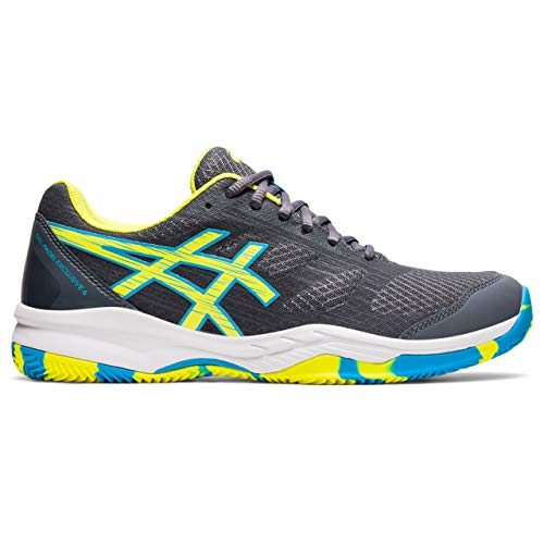 Asics Gel-Padel Exclusive 6, Indoor Court Shoe Hombre, Carrier Grey/Sour Yuzu, 45 EU