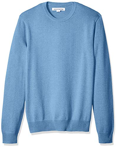 Amazon Essentials Men's Crewneck Sweater, Light Blue Heather, XX-Large