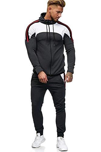 UMore Herren Jogginganzug Sportanzug Männer Trainingsanzug Fitness Sporthose und Trainingsjacke